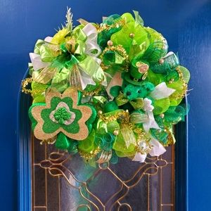 A Beary St Patrick's Day Wreath